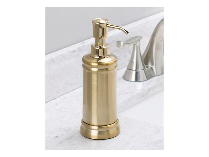 Nierdzewny dozownik do mydła w kolorze złota iDesign Sutton Kolor Złoty Dozowniki Kategoria Mydelniczki i dozowniki