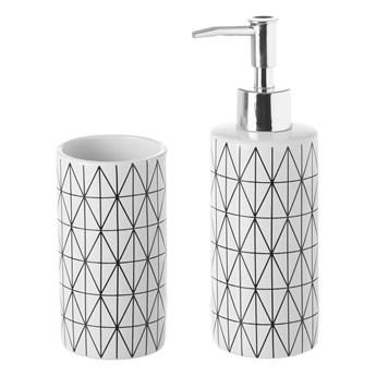 Zestaw kubka na szczoteczki i dozownika do mydła Unimasa Geometry