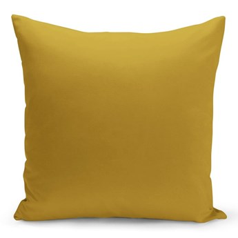 Ciemnożółta poduszka Lisa, 43x43 cm