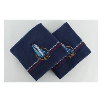 Zestaw 2 ciemnoniebieskich ręczników Yelken, 50x90 cm