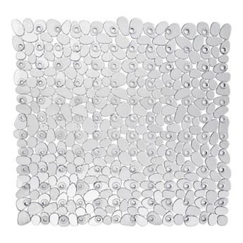 Przezroczysta antypoślizgowa mata prysznicowa Wenko Drop, 54x54 cm