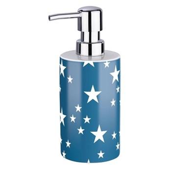 Biało-niebieski dozownik do mydła Wenko Stella Blue
