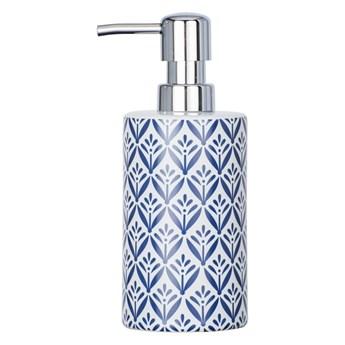 Niebieski ceramiczny dozownik do mydła Wenko Lorca
