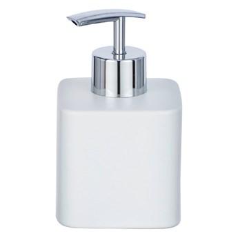 Jasnoszary ceramiczny dozownik do mydła Wenko Hexa, 290 ml