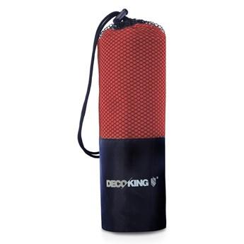 Czerwony szybkoschnący ręcznik kąpielowy DecoKing EKEA, 70x140 cm
