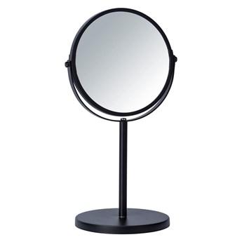 Czarne lusterko kosmetyczne Wenko Assisi, ⌀ 17 cm
