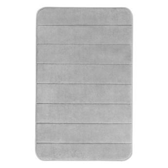 Jasnoszary dywanik łazienkowy z pianką z pamięcią kształtu Wenko, 80x50 cm