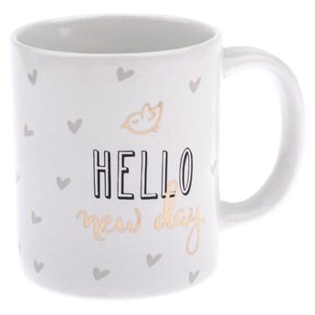 Kubek porcelanowy Dakls Hello New Day, 320 ml