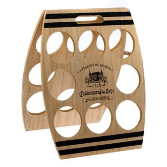 Drewniany stojak na wino na 8 butelek Dakls, 30x38 cm