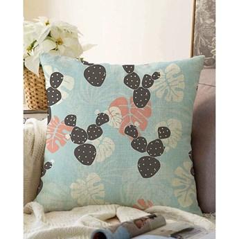 Niebieska poszewka na poduszkę z domieszką bawełny Minimalist Cushion Covers Chenille, 55x55 cm