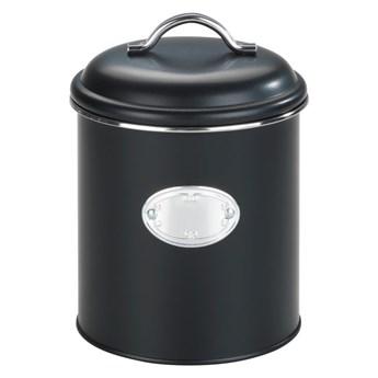 Czarny pojemnik z zamknięciem hermetycznym Wenko Nero, obj. 1,6 l