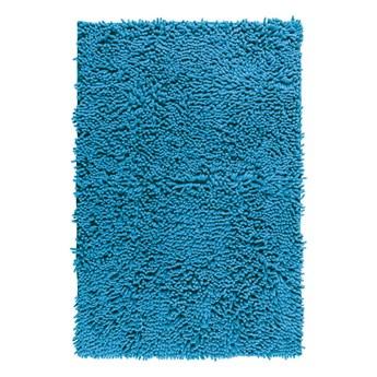 Niebieski dywanik łazienkowy Wenko Chenille, 80x50 cm
