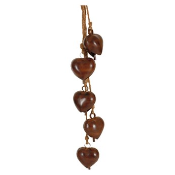 Girlanda z 5 dzwoneczkami w kształcie serca Antic Line