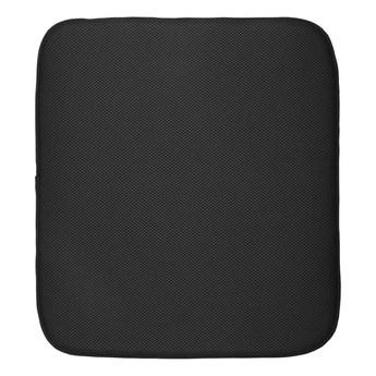 Czarna podkładka na umyte naczynia iDesign iDry, 45,7x40,6 cm