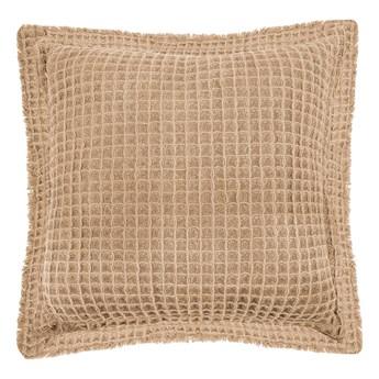Beżowa bawełniana poduszka dekoracyjna Tiseco Home Studio Waffle, 45x45 cm