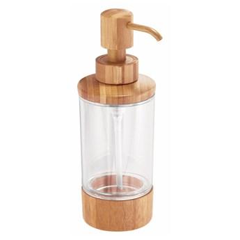 Dozownik do mydła z bambusowymi detalami iDesign Formbu, 295 ml