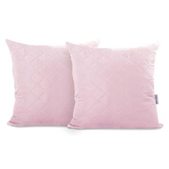 Zestaw 2 fioletoworóżowyvh poszewek na poduszki z mikrowłókna DecoKing Axel, 40x40 cm