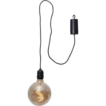 Brązowa ogrodowa dekoracja świetlna LED Star Trading Glassball, dł. 1 m