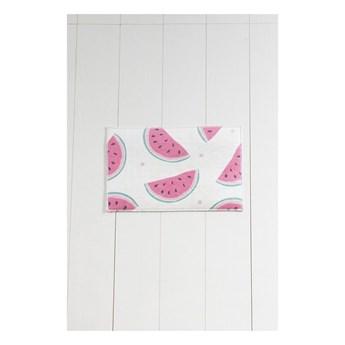 Biało-różowy dywanik łazienkowy Tropica Watermelon, 60x40 cm