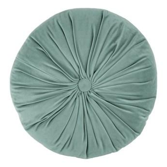 Zielona aksamitna poduszka dekoracyjna Tiseco Home Studio Velvet, ø 38 cm