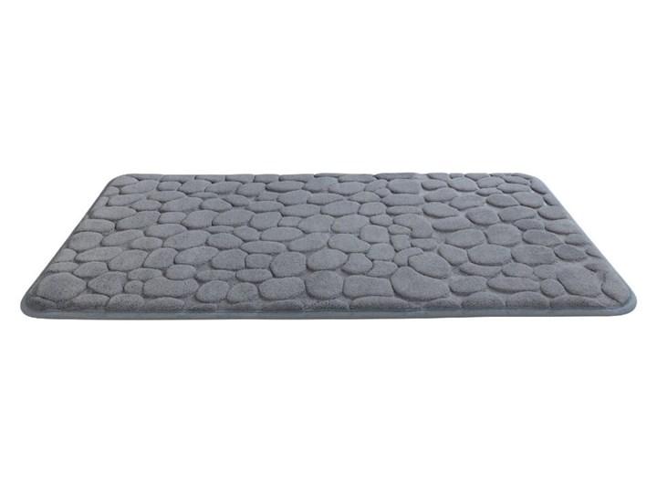 Szary dywanik łazienkowy z pianką z pamięcią kształtu Wenko Grey, 80x50 cm