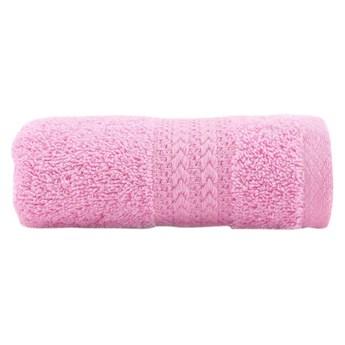 Różowy ręcznik z czystej bawełny Sunny, 30x50 cm