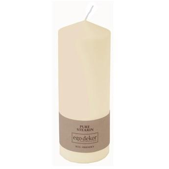 Śmietankowobiała świeczka Eco candles by Ego dekor Top, 50 h