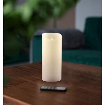 Świeczka LED z pilotem DecoKing Wax, wys. 15 cm