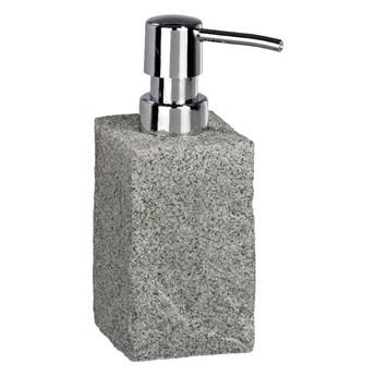 Szary dozownik do mydła Wenko Granite, 210 ml