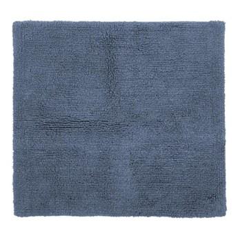Niebieski bawełniany dywanik łazienkowy Tiseco Home Studio Luca, 60x60 cm