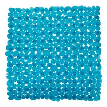 Niebieskozielona antypoślizgowa mata prysznicowa Wenko Drop, 54x54 cm