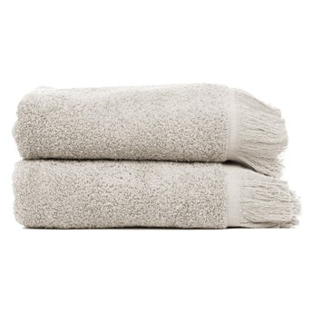Zestaw 2 szarobrązowych ręczników ze 100% bawełny Bonami, 50x90 cm