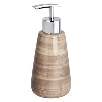 Piaskowobrązowy dozownik do mydła Wenko Pottery
