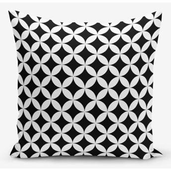 Czarno-biała poszewka na poduszkę z domieszką bawełny Minimalist Cushion Covers Black White Geometric, 45x45 cm