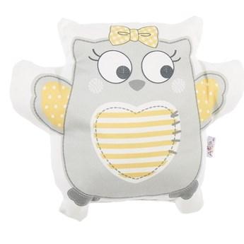 Szara poduszka dziecięca z domieszką bawełny Mike & Co. NEW YORK Pillow Toy Owl, 32x26 cm