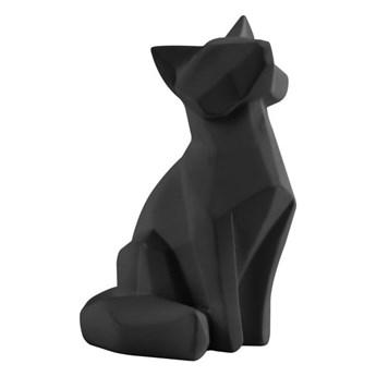Matowa czarna figurka w kształcie lisa PT LIVING Origami Fox, wys. 15 cm