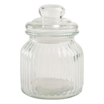 Pojemnik szklany T&G Woodware Ribbed, 600 ml