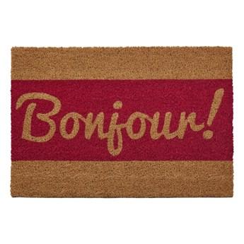 Wycieraczka z naturalnego włókna kokosowego Premier Housewares Bonjour, 40x60 cm