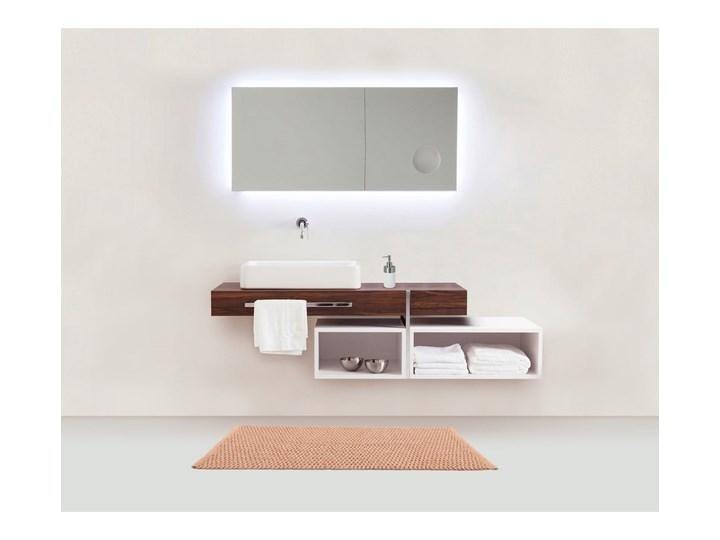 Brązowy dywanik łazienkowy Wenko Mona, 80x50 cm 50x80 cm Bawełna Prostokątny Kategoria Dywaniki łazienkowe