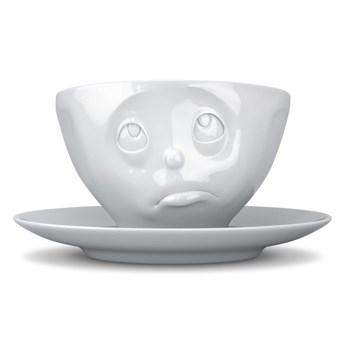 Biała porcelanowa nadąsana filiżanka Oh please 58products, 200 ml
