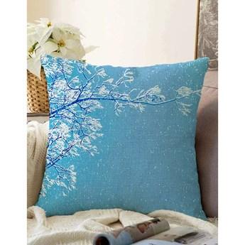 Niebieska poszewka na poduszkę z domieszką bawełny Minimalist Cushion Covers Winter Wonderland, 55x55 cm