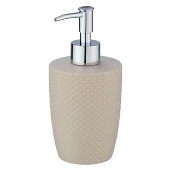 Beżowy ceramiczny dozownik do mydła Wenko Punto
