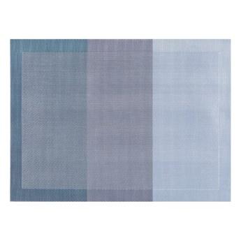 Niebieska mata stołowa Tiseco Home Studio Jacquard, 45x33 cm