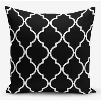 Czarno-biała poszewka na poduszkę z domieszką bawełny Minimalist Cushion Covers Ogea, 45x45 cm