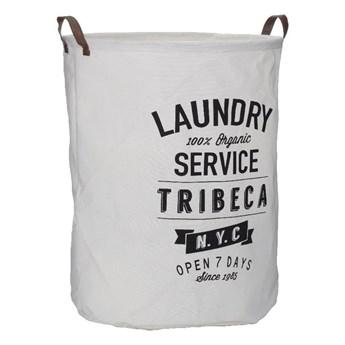 Biały kosz na pranie Premier Housewares Tribeca, 54 l