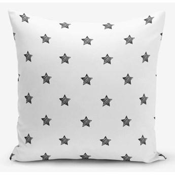 Czarno-biała poszewka na poduszkę z domieszką bawełny Minimalist Cushion Covers White Background Star, 45x45 cm