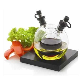 Zestaw butelek na ocet i olej z ręcznie dmuchanego szkła z tacką XD Design Orbit