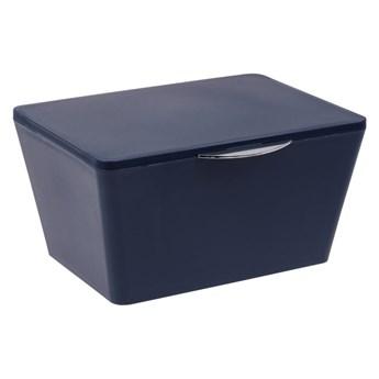 Granatowy pojemnik łazienkowy Wenko Brasil