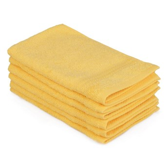 Zestaw 6 żołtych ręczników bawełnianych Madame Coco Lento Amarillo, 30x50 cm