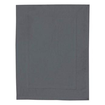 Antracytowy bawełniany dywanik łazienkowy Wenko, 50x70 cm